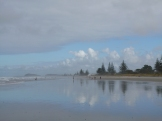 Beautiful Waihi Beach, on the East Coast of the North Island. We stayed our first night in the campervan near here