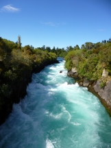 Gorgeous Huka Falls, on the Waikato River, New Zealand's longest, near Lake Taupo
