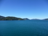 The colors of Marlborough Sound as the ferry navigated the Cook Strait