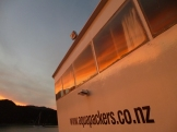 Staying on a boat that sleeps about 20 people in Abel Tasman with great views and good food was a fabulous experience