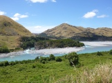Brilliant turquoise waters of the Waiau River as we drove from Hanmer Springs to Christchurch