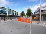Much of Christchurch's CBD is still inactive with blocks of buildings cordoned-off behind chain-link fences