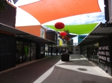 Great use of canvas sails to add interest and create shade in the Re:START District