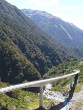 Crossing the South Island on scenic route 73 between Christchurch and Greymouth