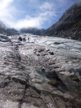 Being on the Fox Glacier as the skies cleared was magical