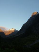 Our early morning drive along the Milford Road in Fiordland National Park
