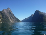 Classic image of Milford Sound taken from our kayak