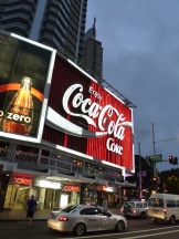 Iconic Coke sign in the Kings Cross area of Sydney