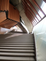 The circulation spaces in the Sydney Opera House are very striking