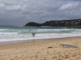 A busy surf beach just a 15 minute ferry ride from Central Sydney