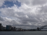 The Opera House and Harbour Bridge on approach to Sydney Cove