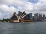 The ferry from Manly provides a great view of the Opera House